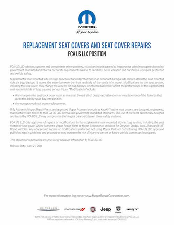 Replacement Seat Covers